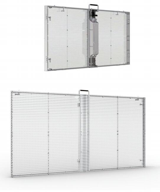 transpaernt glass led display