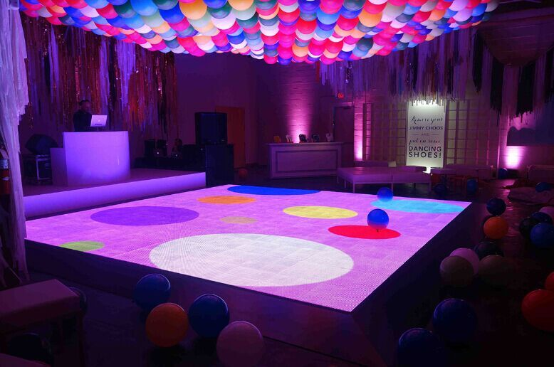 interactive led video floor