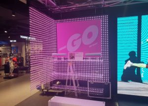 soft led mesh screen