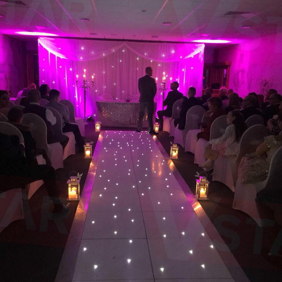 vstar black LED Starlit dance floor